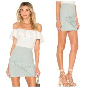 Revolve By the Way Light Blue Knot Tie Front Skirt